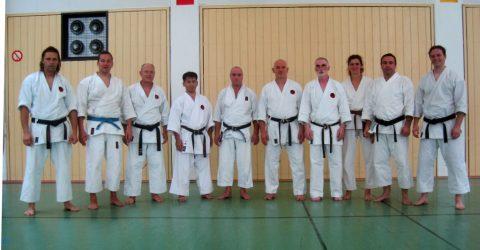 Sensei Yamashiro und Sensei Leijenhorst mit den Siemens Ost Karatekas