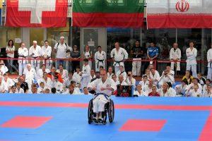 World Karate Day 2017 in München - Kata im Rollstuhl