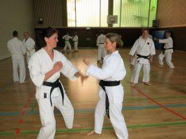 Spass beim Karate Training