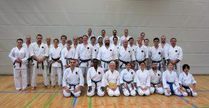 Karateverein in München Gruppenbild Weihnachtslehrgang