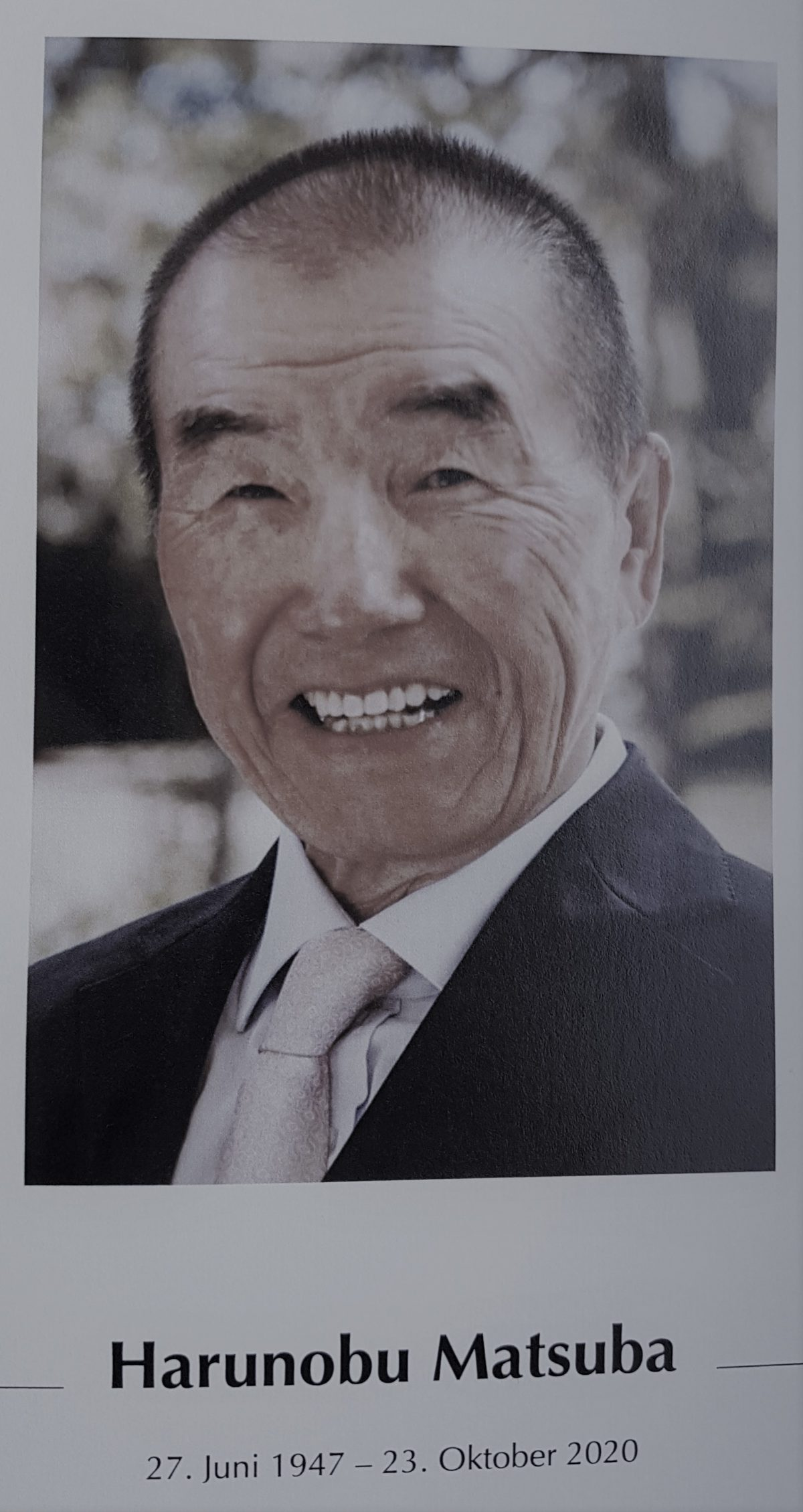 Abschied von Sensei Harunobu Matsuba